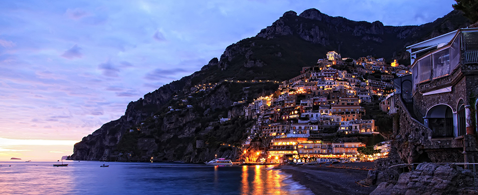 Positano, Amalfi Coast at Night