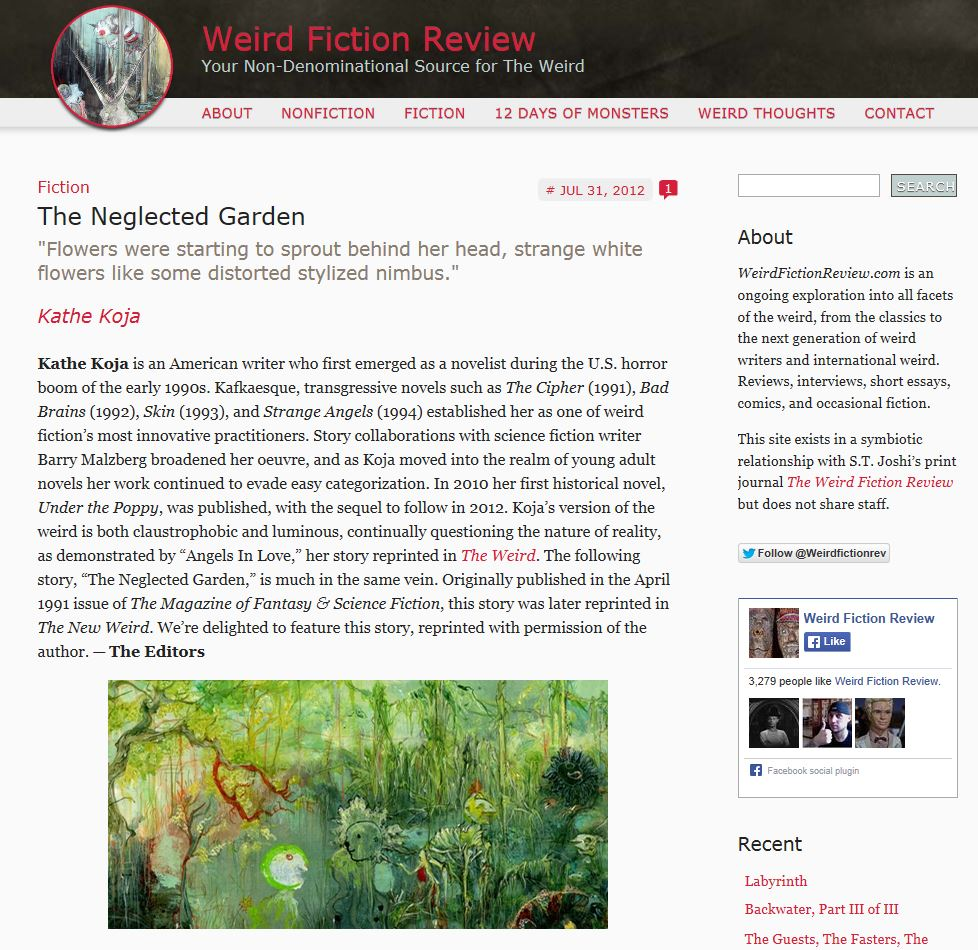 The Neglected Garden - weirdfictionreview